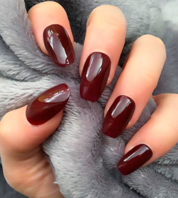 Review of Elegant Touch False Nails Colour False Nails, Steel the Night, Oval Shape (previously known as After Dark)