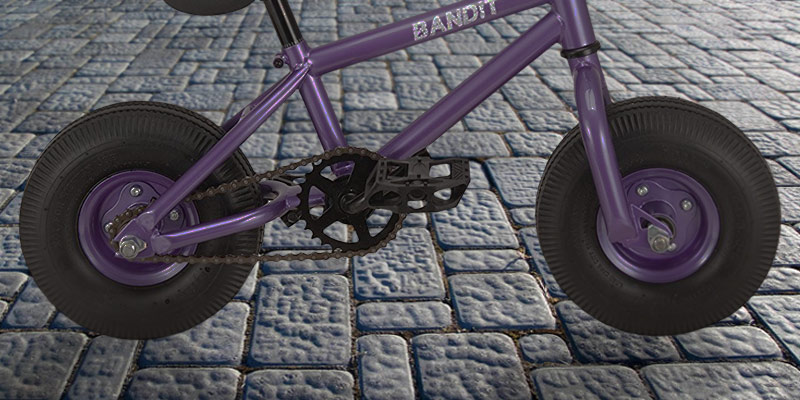 RayGar 2017 Bandit Purple Mini BMX Bike in the use
