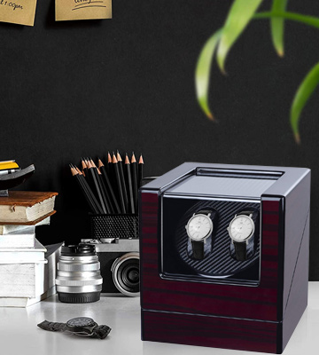 Review of Kalawen Latest Double Watch Winder Box with 5 Rotation Modes