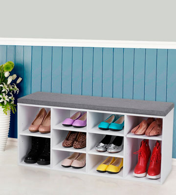 Review of VASAGLE LHS10WT Shoe Bench Storage