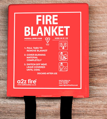 Review of A2Z Fire Fire Blanket In Hard Case
