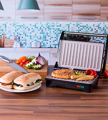 Review of Salter EK2384 Marble Collection 2 in 1 Fold-Out Health Grill and Panini Maker