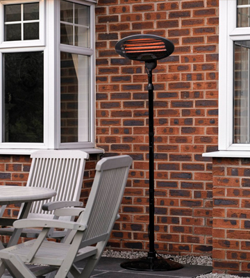 Review of LIVIVO 2KW Outdoor Free Standing Quartz Electric Garden Patio Heater