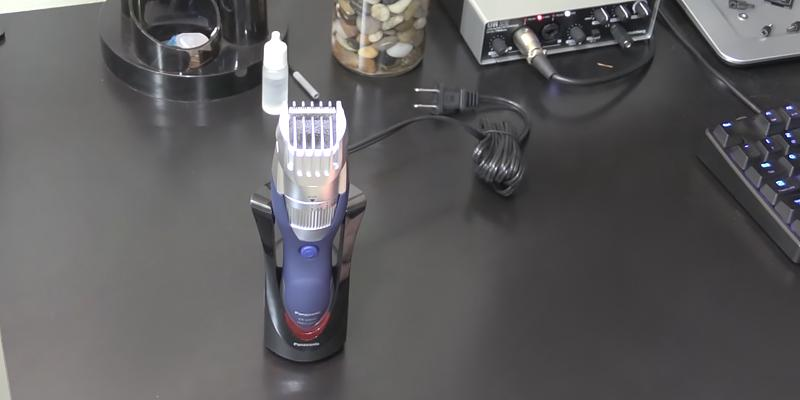 Panasonic ER-GB40-S Hair and Beard Trimmer in the use