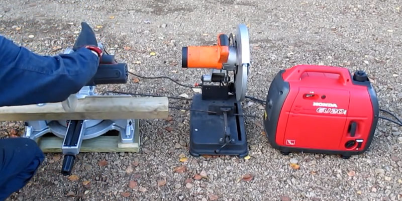 Honda EU20i 2kVA / 1600w Petrol Portable Generator in the use