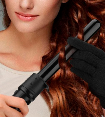 Review of ELEHOT Curling Irons with PTC Ceramic Barrels Professional Curling Tong Curling Wand