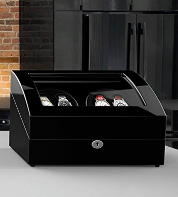 Review of Triple Tree 02 Automatic Watch Winder with 4 Winder Positions, 6 Storage Spaces