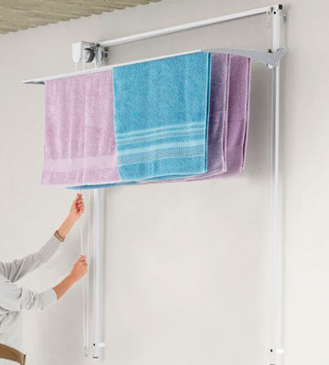 Review of Foxydry 100 vertical Wall mounted pulley clothes Airer