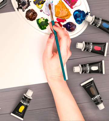 Review of Castle Art Supplies Acrylic Paint Set 48 Vibrant Colours with Larger Tubes