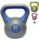 DKN Vinyl Multicolour Kettlebell Weight Set