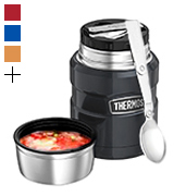 Thermos 105053 Stainless King Food Flask, Gun Metal, 470 ml