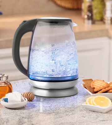 Review of Salter EK2841SS Colour Changing Glass Kettle with Red-Blue LED Illumination