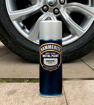 Review of Hammerite Direct to Rust Metal Paint Aerosol Smooth Silver