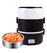 GOTOTOP 3 Tier Electric Portable Lunch Heater Set Food Warmer