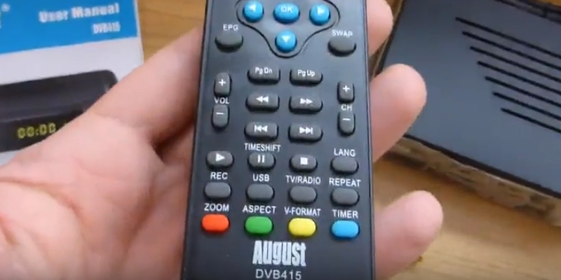 Detailed review of August DVB415 SCART and HDMI AV
