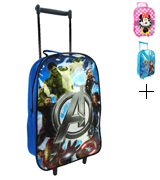 Disney Avengers Neon Kids Wheeled Trolley Case