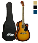 Tiger Music Sunburst Electro Acoustic Guitar Pack