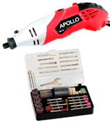 Apollo DM-170 Heavy Duty 170W Rotary Multitool with 120 Piece Accessory