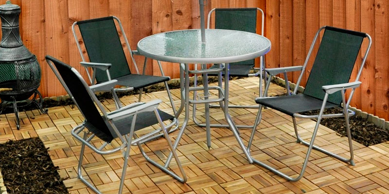 Review of Kingfisher FS6PB Garden Furniture Set with Umbrella