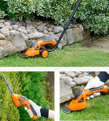 Review of VonHaus 15/015 2 in 1 Cordless Grass and Hedge Trimmer with Telescopic Handle & Trolley Wheel Attachments