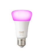 Philips A19 E27 60W Hue White and Colour Ambience Equivalent Dimmable LED Smart Bulb