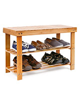 HOMFA Natural Bamboo Shoe Rack