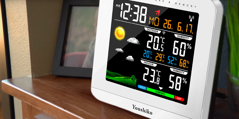 Review of Youshiko YC9430 Wireless Colour Weather Station