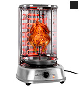 OneConcept GQ3-KEBAPMASTERSTEEL Kebab Master Vertical Grill, 1800W