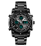 SKMEI Mens Digital Sports Watch Military Waterproof Analogue Watch with Alarm/Dual Time/Countdown/Stopwatch