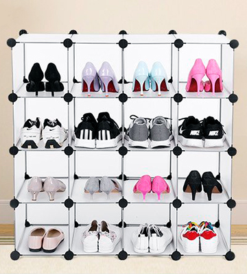 Review of SONGMICS LPC44S Interlocking Shoe Rack