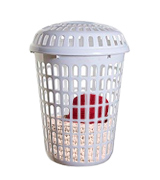 Whitefurze Limited PLASTIC LAUNDRY BASKET Dimension (Approx): Capacity : 56 Liter Basket ( H 56 X W 46 X D 36 cm)