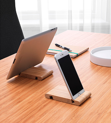 Review of BERGENES Wooden IKEA Tablet Stand