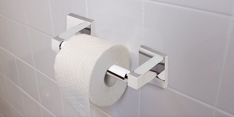 Review of Home Treats Toilet Roll Holder Square Bathroom Bar