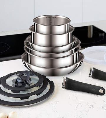 Review of Tefal Ingenio 13-Piece Pots and Pans Set, Stainless Steel