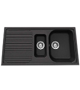 Schock LITD150ON 1.5 Bowl Granite Onyx Black Kitchen Sink