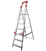 Abbey Ladders DSPS7T Aluminium Safety Platform Step Ladder With Handrail & Tool Tray 7 Tread