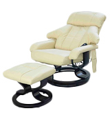 HomCom 5550-3472 Leather Chair Recliner with Foot Stool