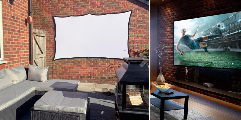 Review of VANKYO (PS04) 100 inch | 16:9 | Portable Indoor/Outdoor Projector Screen