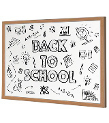Quickdraw WHT-MAG-600x400 Heavy Duty Magnetic Whiteboard with Wooden Frame