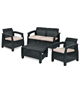 Keter Corfu Rattan Garden Furniture Set