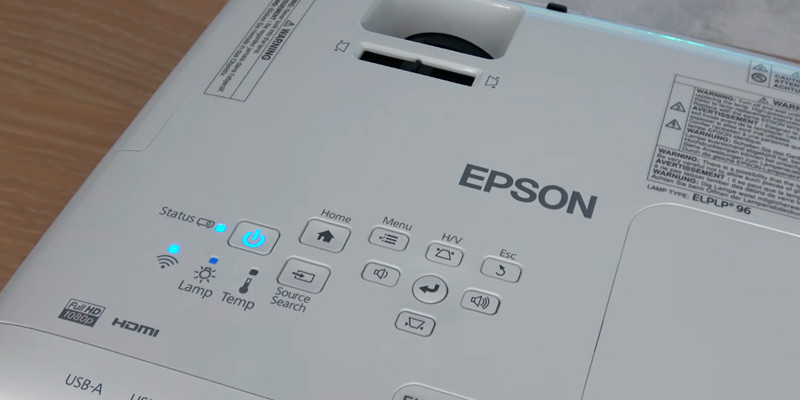 Epson EH-TW650 3LCD Full HD 3100 Lumens Gaming and Home Cinema Projector in the use