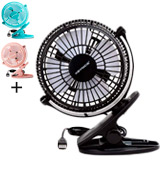 Keynice KN-835-BK Mini USB Clip and Desk Personal Fan