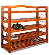 Deuba 100698 Wooden Shoe Rack