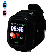 9Tong UKHJYQ90-black Kids GPS Smart Watch