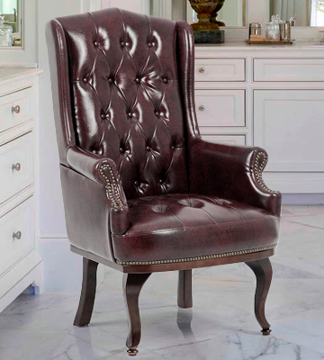 Review of ANGEL HOME & LEISURE Queen Anne Fireside Wing Back Leather Chair