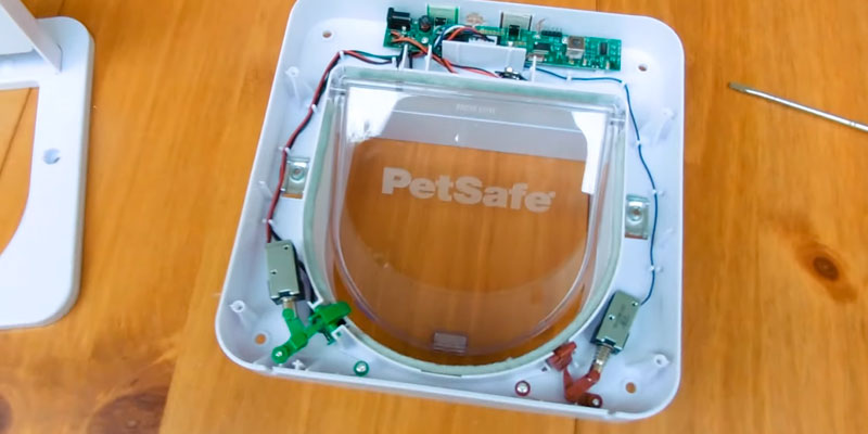 PetSafe 82690 Petporte Smart Flap Microchip Cat Door in the use