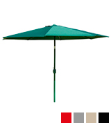 Alfresia Aluminium Round Wind up Garden Parasol Sun Shade Patio Outdoor Umbrella 2.5m