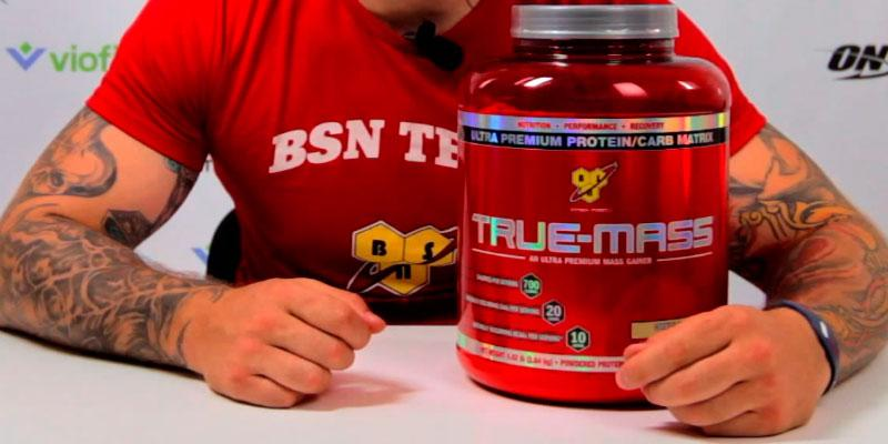 BSN Sports TRUE-MASS Gainer in the use