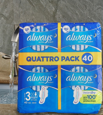 Review of Always 40Pcs Ultra Thin Night Sanitary Towels with Wings