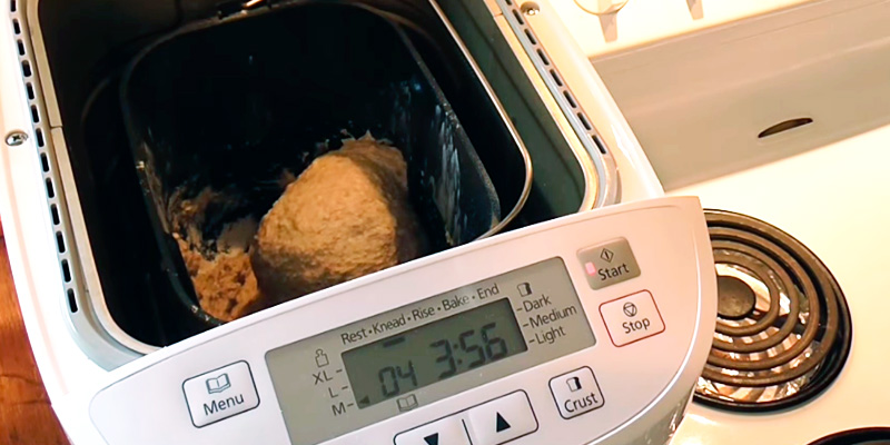 Panasonic SD-2501WXC Automated Breadmaker with Gluten Free Programme in the use